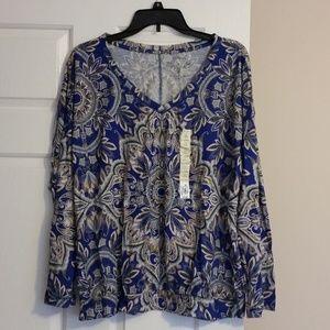 NWT Sonoma Long Sleeve Shirt-XL-Banded Bottom